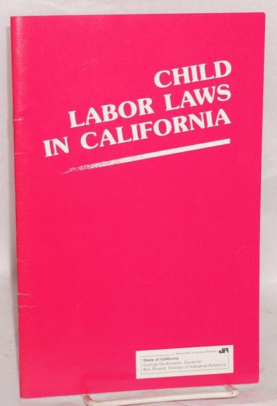 San Francisco: Division of Labor Standards Enforcement, 1988. ii, 30p, wraps.