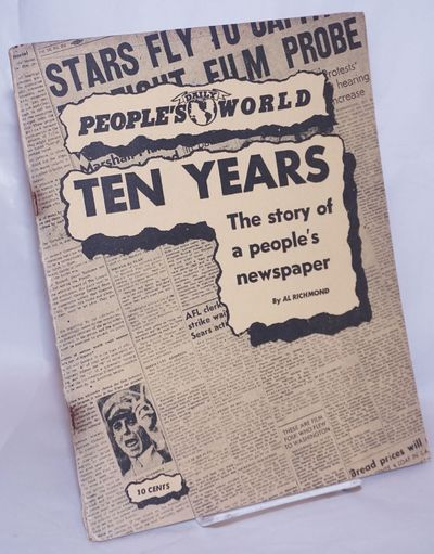San Francisco: The Daily People's World, 1948. Pamphlet. 31p., wraps worn along the spine staples ru...