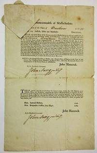 COMMONWEALTH OF MASSACHUSETTS. TO THE SELECTMEN OF THE TOWN OF [WRENTHAM] IN THE FIRST DISTRICT, VIZ SUFFOLK, ESSEX, AND MIDDLESEX. GREETING. THESE ARE IN THE NAME OF THE COMMONWEALTH OF MASSACHUSETTS, TO WILL AND REQUIRE YOU, IN THE MANNER AS THE LAW DIRECTS FOR CALLING TOWN-MEETINGS, TO CAUSE THE FREEHOLDERS AND OTHER INHABITANTS OF THE TOWN OF.. by [Massachusetts] - 1793 - from David M. Lesser, Fine Antiquarian Books LLC (SKU: 34090)