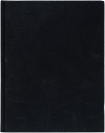 Berlin / Los Angeles: Peres Projects, 2007. Fine in black stamped black boards. As new.. First Editi...