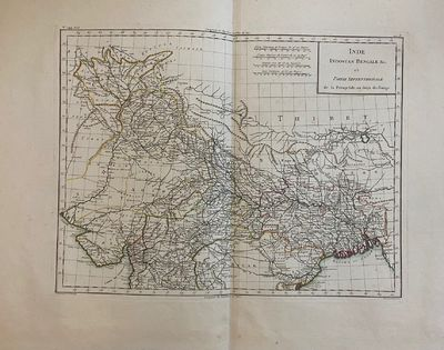 Paris: Edme Mentelle, 1802. Map. Engraving with hand coloring. Image measures 19 5/8