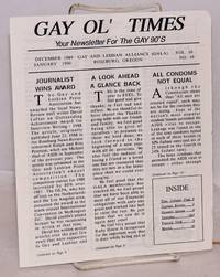 image of Gay Ol' Times: Gay and Lesbian Alliance newsletter; vol. 10, no. 10, December 1989 January 1990