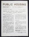 Public Housing Report to the Community June 1951, vol. 1 no. 4