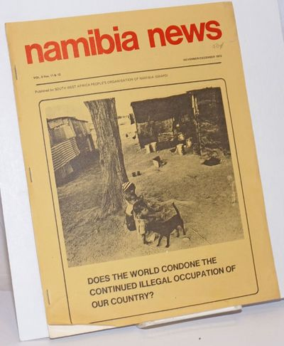 London: South West Africa People's Organisation of Namibia (SWAPO), 1972. 11p., stapled wraps, 8.5 x...
