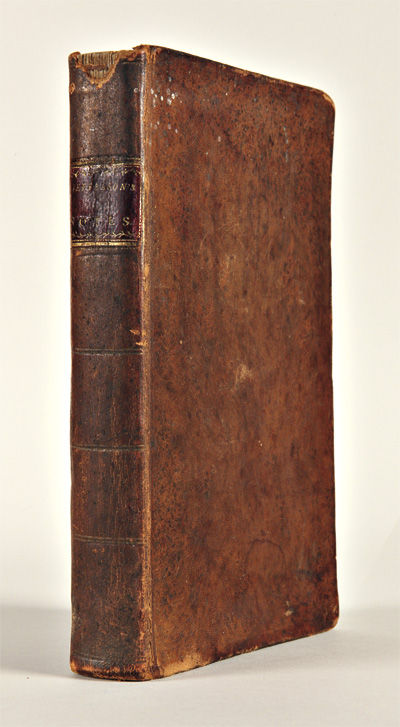 Newark: Printed by Pennington & Gould, 1801. 392pp., plus frontispiece portrait and folding table. C...
