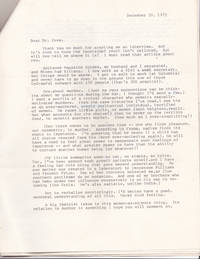 A 2-PAGE TYPED LETTER SIGNED by MILICENT TRYON Addressed to Freudian psychiatrist and criminologist Dr. Arthur Foxe on the subject of sexually motivated murder.