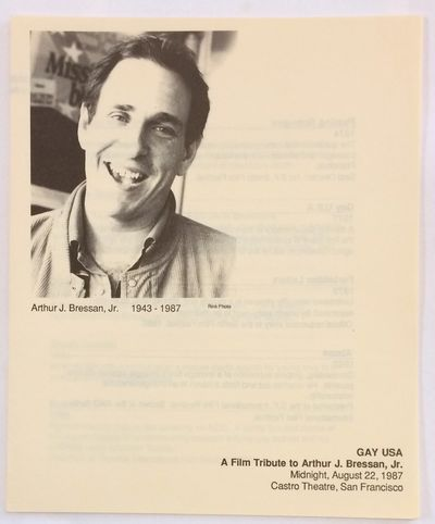 San Francisco: Castro Theatre, 1987. Four-panel brochure folded to 7x8.5 inches, very good, with por...