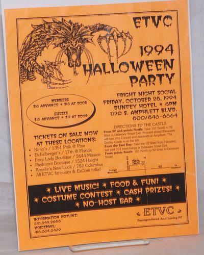 San Francisco: ETVC: Educational Transvestite Channel, 1994. Single 8.5x11 inch handbill printed one...