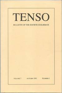 image of Tenso: Bulletin of the Societe Guilhem IX: Volume 7, Autumn 1991, Number 1