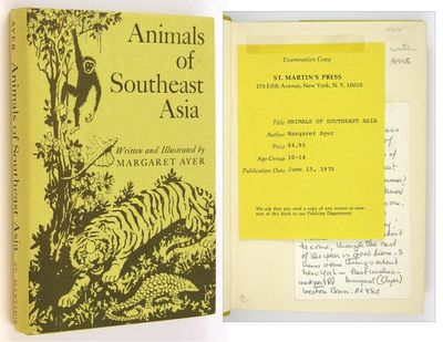 NY: St. Martin's. (1970). A review copy of this book for young people on the animals of Vietnam, Cam...