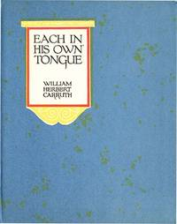 EACH IN HIS OWN TONGUE