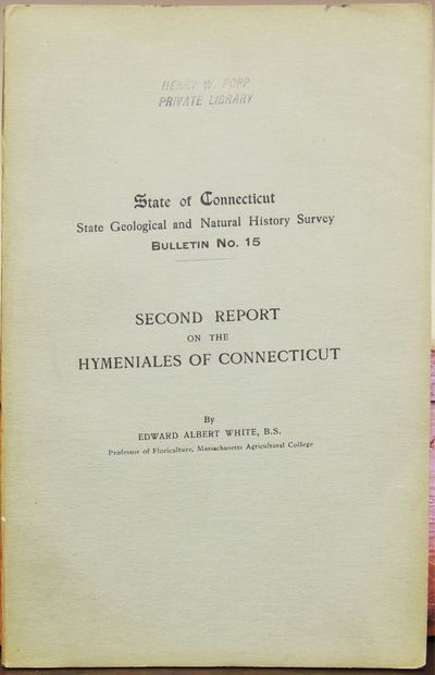 Hartford: State Geological and Natural History Survey, 1910. Paperback. Very Good. Paperback. Very g...