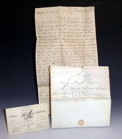 A 4 Page Autographed Letter Signed from John ? Of Key West, Florida to Mary B. Shipman, March 4, 184...