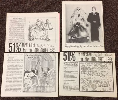 Lomita, CA, 1974. Five issues of the tabloid-format publication, usually four pages, folded from a s...