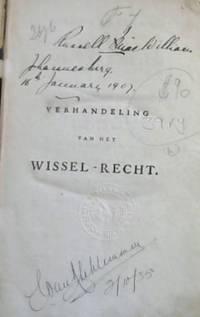 image of Verhandeling van het Wissel-Recht