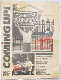 image of Coming Up! the gay/lesbian community newspaper_calendar of events for the Bay Area [aka San Francisco Bay Times] vol. 8, #10, July, 1987; AIDS Conference D.C.