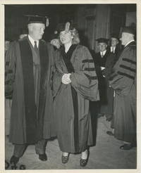 Photograph, black and white glossy, Rutgers University, New Jersey, June 1950 (as docketed on verso), copyright by The News, New York City, unsigned