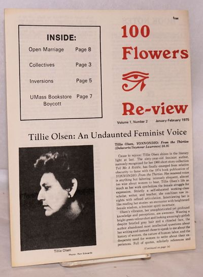 Cambridge: 100 Flowers Bookstore, 1975. Magazine. 16p. includes covers, 8.25x10.25 inches, articles,...