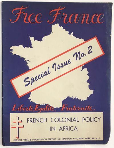 New York: Free French Press and Information Service, 1944. 38p., staplebound magazine, some edgewear...