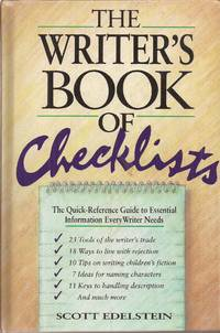 image of The Writer's Book of Checklists: The Quick-Reference Guide to Essential Information Every Writer Needs
