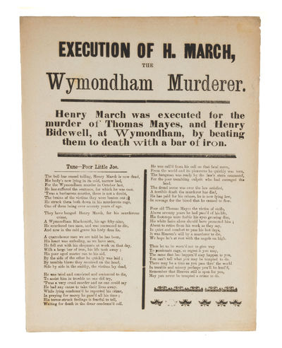 Execution of H March, The Wymondham...