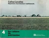 Calixa-Lavallée.  Répertoire d'architecture traditionnelle.