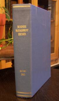 Business Management Record, May to December, 1963