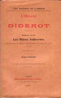 Les Bijoux indiscrets, réimpression complète d'après l'édition de 1833, avec clef. Introduction de Jean Hervez. (L'Oeuvre de Diderot, première partie)