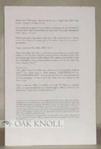 Philadelphia: Holmes Publishing Co, 1993. unbound signatures. Allingham, William. 8vo. unbound signa...