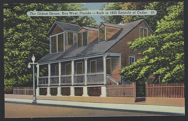 POSTCARD - Oldest House, Key West, Florida