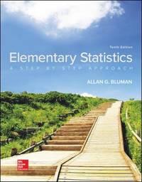 Elementary Statistics by Allan Bluman - Hardcover - 10 - 02/01/2017 - from California Books Inc (SKU: 7822)