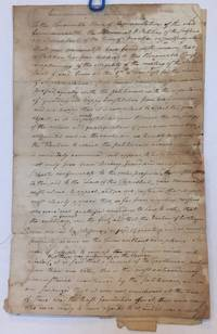 1787 MANUSCRIPT PETITION OF BRAINTREE MASSACHUSETTS Selectmen Defending the Legality of Their Vote for Col. Thayer. Addressed to the Commonwealth of Massachusetts. Signed by 65 townsmen