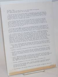 Re: Continuing work against war in Vietnam [handbill]