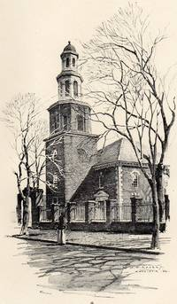 Fine Original 1922 Print of Christ Church in Alexandria VA. by O. R. Eggers
