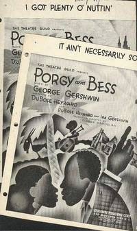 It Ain't Necessarily So (and) I Got Plenty O' Nuttin'. PORGY AND BESS singles from The Theatre Guild Production  (Rouben Mamoulian).