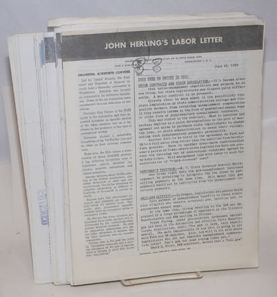 Washington DC: John Herling's Labor Letter, 1986. Thirty-six widely scattered issues of the weekly n...