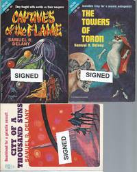 """THE FALL OF THE TOWERS"" SERIES: Captives of the Flame (aka Out of the Dead City) (SIGNED) / The Towers of Toron (SIGNED) / City of a Thousand Suns (SIGNED) / also The Psionic Menace & The Lunar Eye"