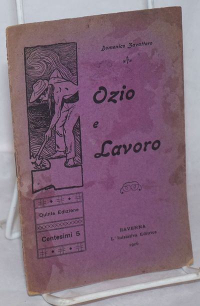 Ravenna: L'Iniziativa Editrice, 1906. Pamphlet. 16p., stapled wraps, 4.25x6.25 inches, wraps toned a...