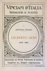 Gilberto Govi ed I suoi scritti intorno a Leonardo da Vinci. by  Antonio FAVARO - 1923 - from Jeff Weber Rare Books (SKU: BL1328)