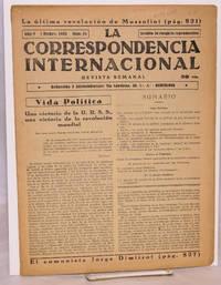image of La Correspondencia internacional; revista semanal, año V, num. 51 1 Dicbre. 1933