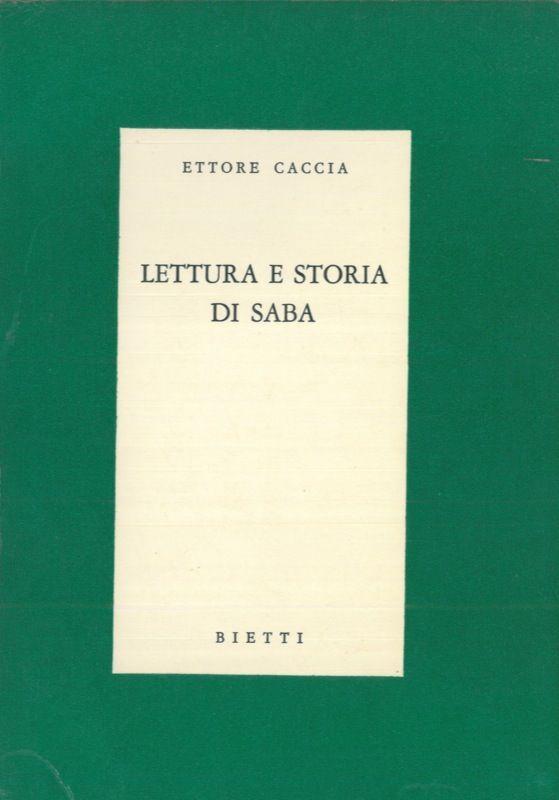 lettura e storia di saba by caccia ettore from