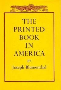 The Printed Book in America
