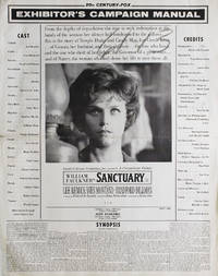 image of Sanctuary: Exhibitor's Campaign Manual. Produced by Richard D. Zanuck. Directed by Tony Richardson