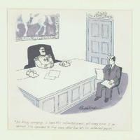 image of New Yorker cartoon: original ink and wash drawing, signed J.B. Handelsman