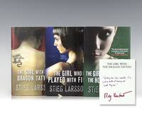 image of The Girl with the Dragon Tattoo; The Girl Who Played with Fire; The Girl Who Kicked the Hornet's Nest.