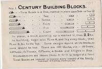 Century Building Blocks Pamphlet, Showing Eleven Architectural and Classical Projects