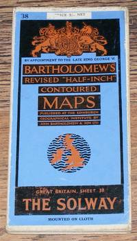 """The Solway - Bartholomew's Revised """"Half-Inch"""" Contoured Maps, Great Britain Sheet 38"""