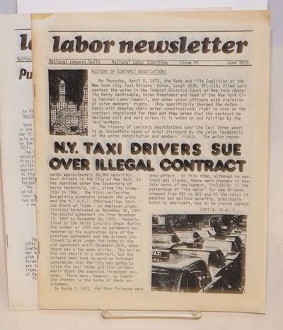 San Francisco: National Lawyers Guild, National Labor Committee, 1973. Two issues of the staplebound...