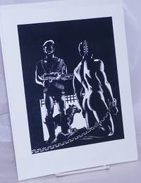 image of [Soldier, Dog_Gimp] [8.5x11 inch matte b&w print]