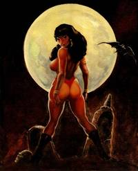 Vampirella Good Girl original oil painting. By graphic novel-comic artist Butch Burcham / 2007